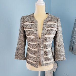 White House Black Market metallic Tweed Blazer D25